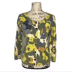 Anthro Tabitha M Pick a Bunch Cardigan Floral